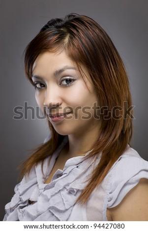 Flirty Hispanic Woman Portrait
