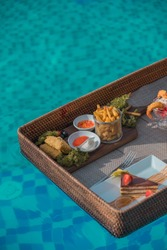 Floating Breakfast including Frenchfries, Deep fry Fish and Cake