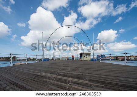 Floating bridge in Willemstad Curacao #248303539