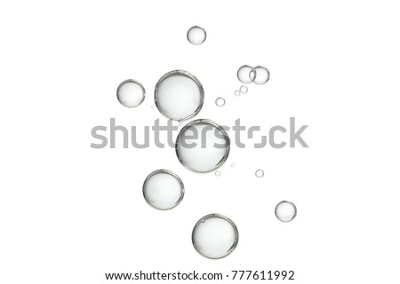 Floating bubbles isolated over a white background.