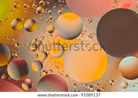 Floating circles of color