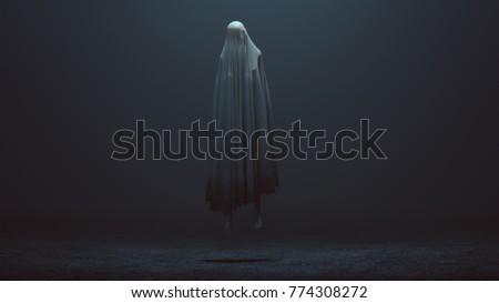 Floating Evil Spirit in a foggy void 3d Illustration 3d Rendering