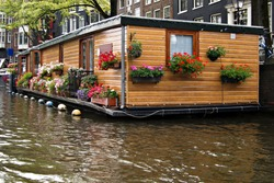 Floating house at Amsterdam