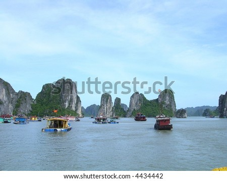 halong bay junk. junk yachts at halong bay,
