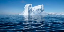 Floating ice in Antarctica Sea