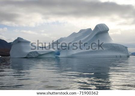 Floating iceberg in the Disko Bay, West Greenland