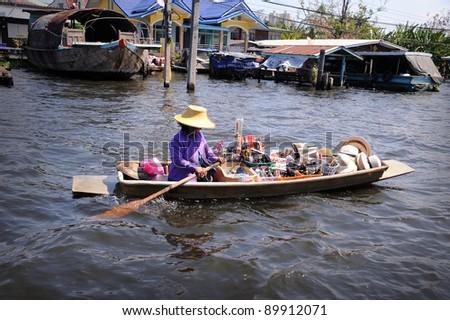 Floating Market at Bangkok, Thailand.
