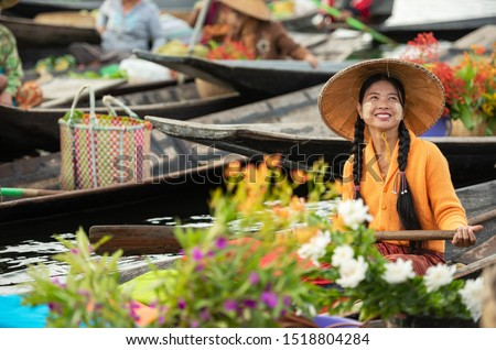 Photo of  Floating Market in the morning at Inle lake, Shan state, Myanmar