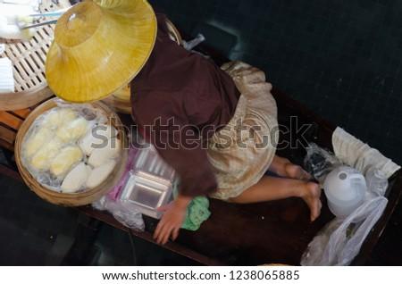 Floating Market Siam, Thailand Stock fotó ©