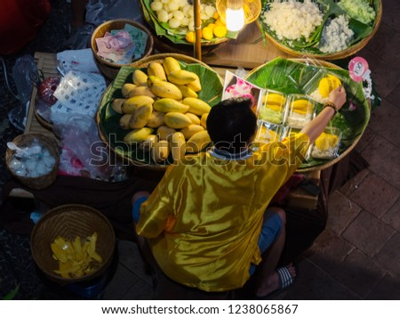 Floating Market Siam, Thailand. Asian lifestyle. Street food in Bangkok the most visited city in the world. Stock fotó ©