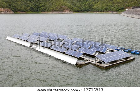 Floating Solar Energy Panels on a lake