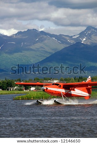 Floatplane on Lake Hood in Alaska