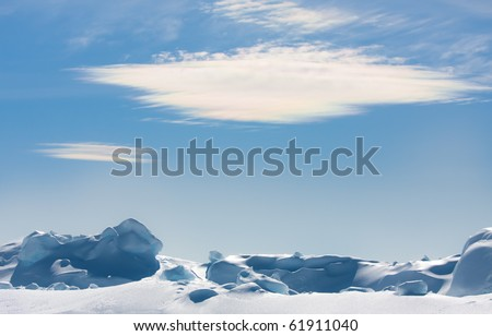 floe against blue sky