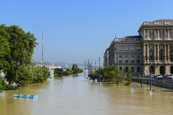 Flood in Budapest, june 2013. Hungary.