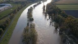 flood in czech republic water river dramatic