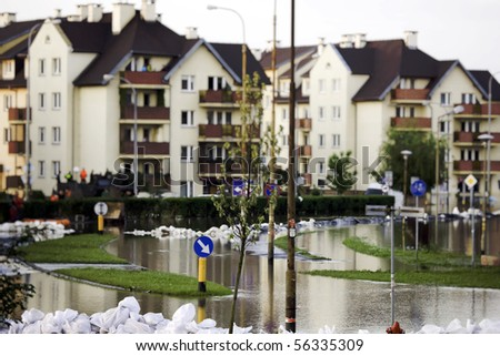 Flood in the city