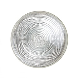 Flood Light Bulb from Front Isolated on a White Background