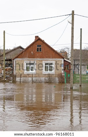 flooded private house