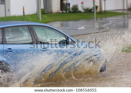 flooded street #108556055
