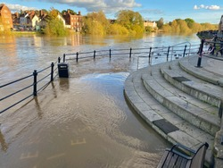 Flooding in Bewdley UK 27/10/2019
