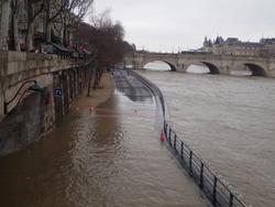 Flooding in seine river. Paris,France