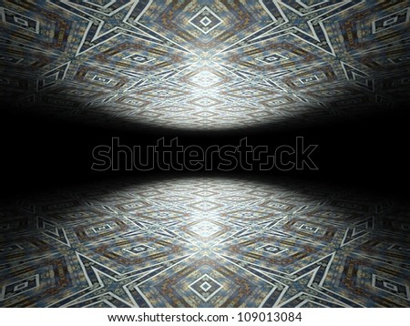 Floor and ceiling, infinite abstract background texture