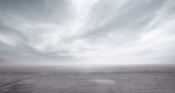 Floor Background with Storm Clouds Dramatic Sky Horizon Panorama