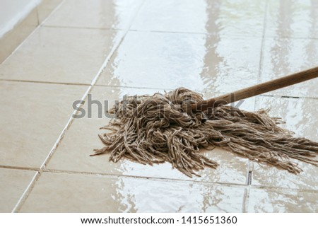 Floor cleaning cleaning housewife housework housework maid mop #1415651360