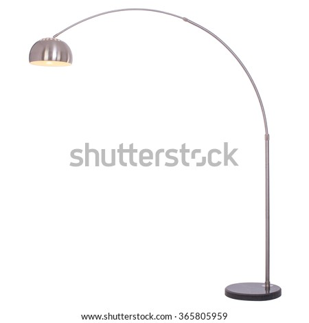 Floor lamp, isolated on white background.