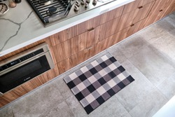 Floor Mat on Tile in Kitchen