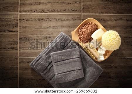 floor of towels