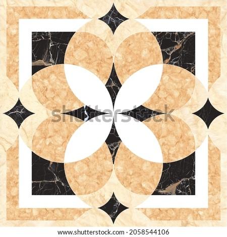 Floor tiles , porcelain ceramic tile , geometric pattern for surface and floor , Brown marble floor tiles.