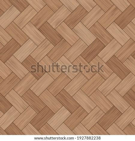 Floor wood parquet. Flooring wooden seamless pattern. Design laminate. Parquet rectangular tessellation. Floor tile parquetry plank. Hardwood tiles. Rectangles slabs brown wooden. Illustration