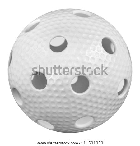 floorball ball isoled on white background