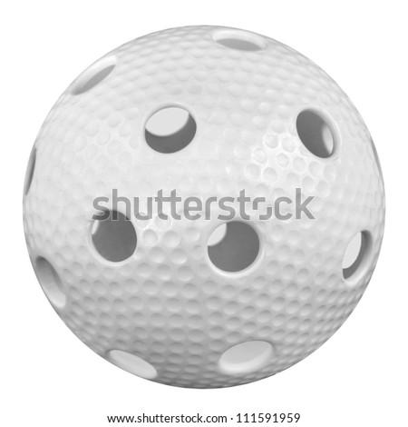 floorball ball isoled on white background