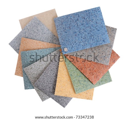 Flooring rubber palette. Isolated
