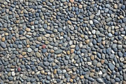 Floors on which pebbles are spread