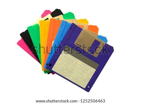 Floppy disk isolated on white background