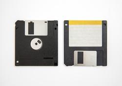 Floppy disk on white background