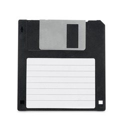 Floppy Disk with Label