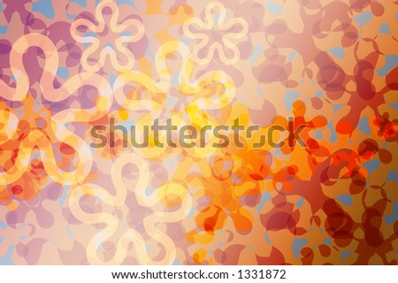 Flora abstract background pattern.