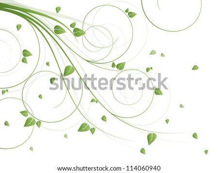 Floral abstract background for spring and summer