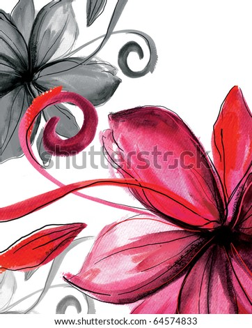 Floral abstract   background  for  your designs