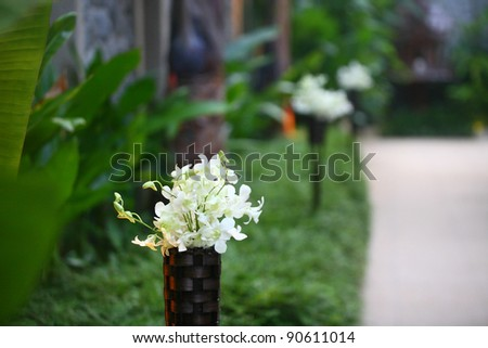 stock photo Floral arrangement at a wedding ceremony