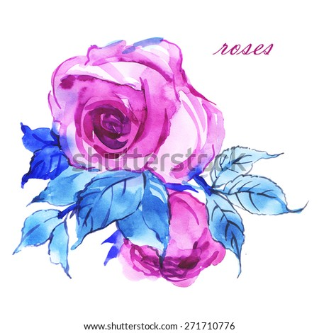 Floral background delicate mauve roses
