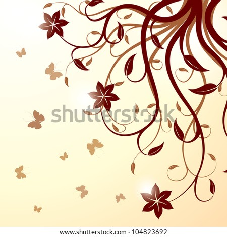 Floral background. Raster version, Vector file id: 102906797