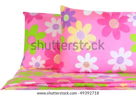 Floral bed. Isolated