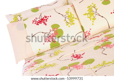 Floral bedding. Isolated