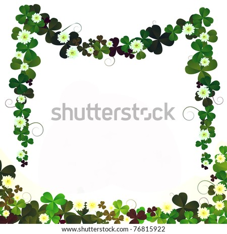 Floral Borders, Design Elements Over White Background ...  Shutterstock Border Design Free Download