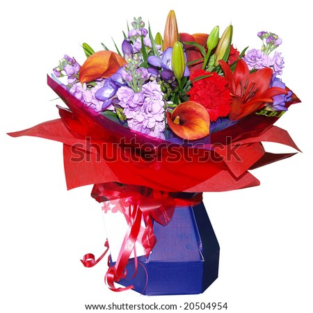 Floral Bouquet isolated with clipping path
